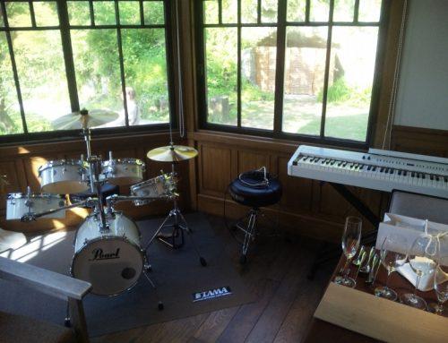 ミニドラムセット&電子ピアノレンタル@鎌倉古我邸
