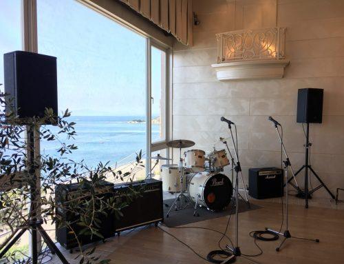 ご結婚式余興向け格安バンドレンタルセット@Flairge HAYAMA 葉山ホテル音羽ノ森 別邸