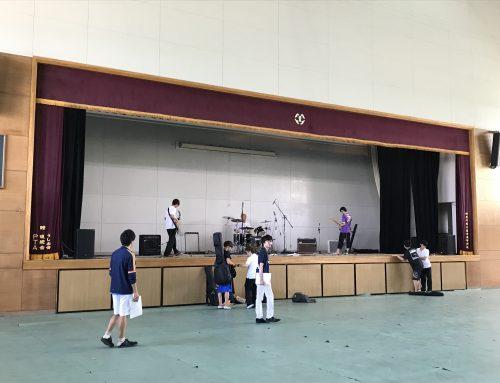 横須賀の追浜高校にPA機材レンタルをさせて頂きました。