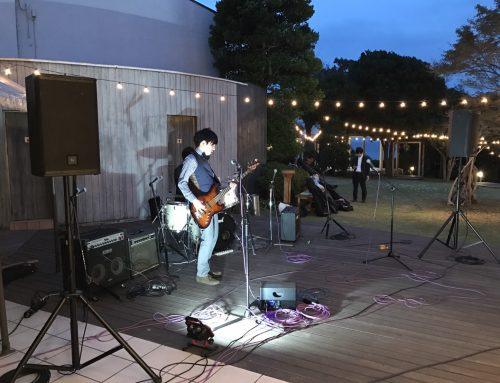 二宮町の結婚式場、ラフィーノオーシャンにバンド機材一式をレンタルさせて頂きました