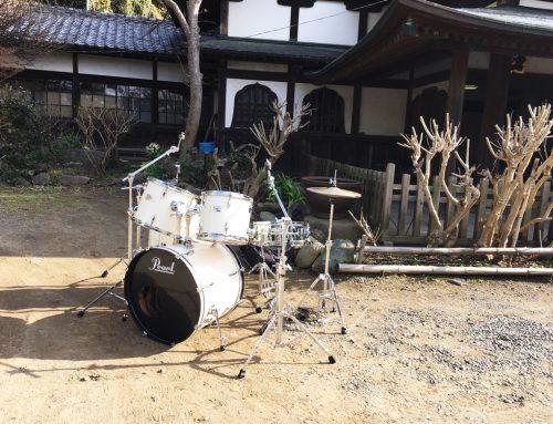 MV撮影用ドラムセットレンタル@藤沢市 龍口寺