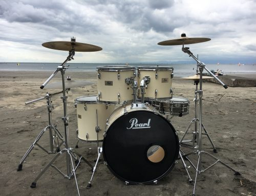 MV撮影用ドラムセットレンタル @鎌倉市材木座海岸