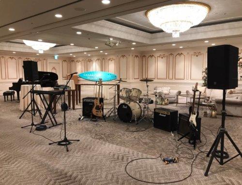 ご結婚式向けPA機材、バンド機材一式レンタル @横浜ロイヤルパークホテル(2Fバンケットルーム「芙蓉」)
