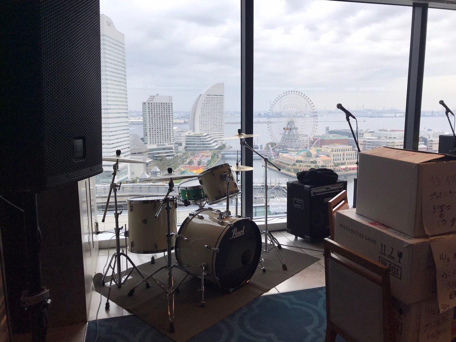 ドラムと景色
