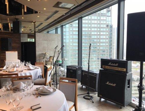 ご結婚式向けPA機材、バンド機材一式レンタル @横浜モノリス(ヒューリックみなとみらい17F)