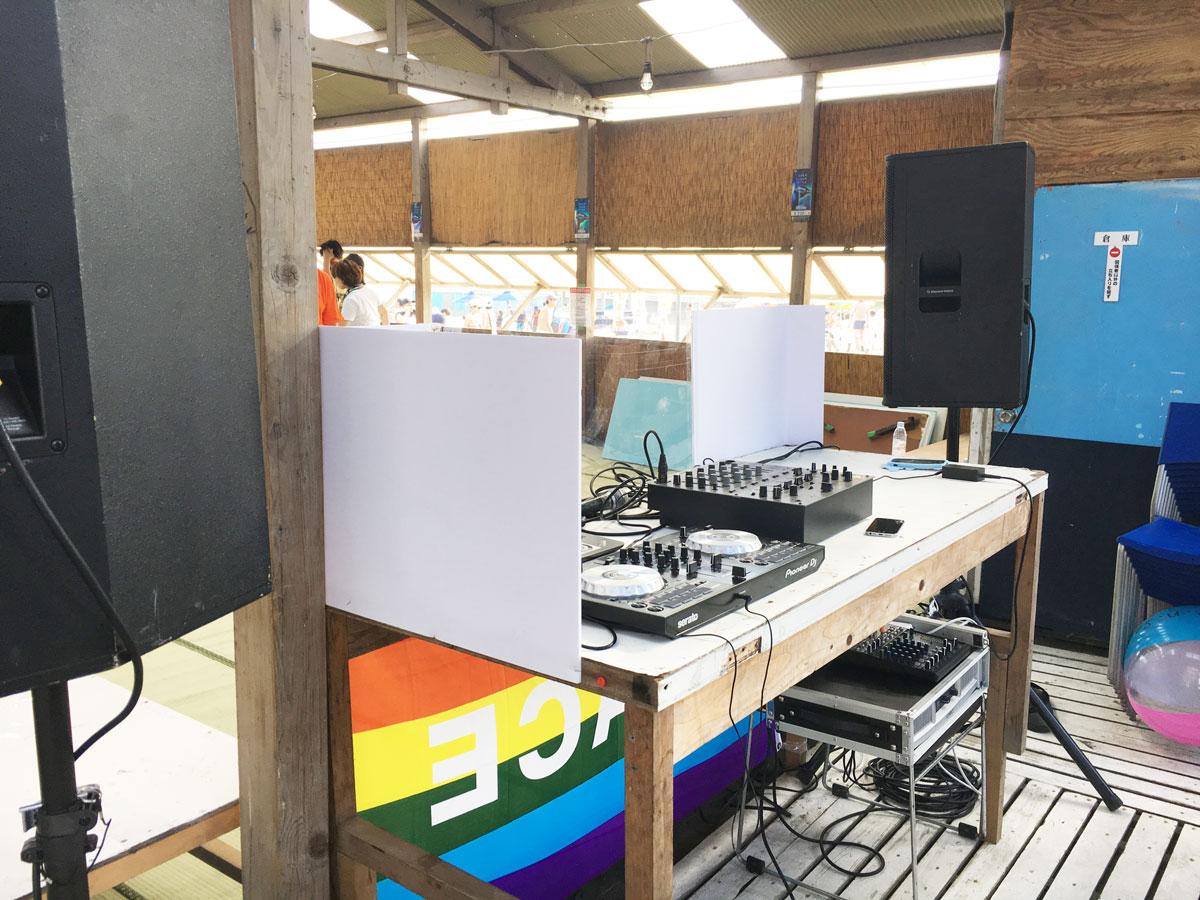 DJ機材&PA機材レンタル @サザンビーチの海の家 花火大会
