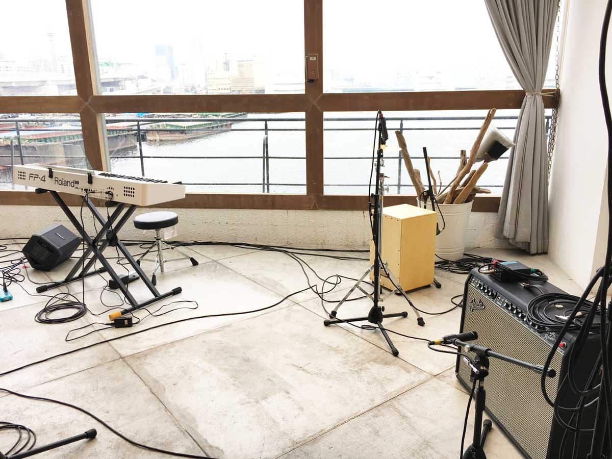 ご結婚式向けカホン、ギターアンプ、電子ピアノ等レンタル @UNION HARBOR 横浜