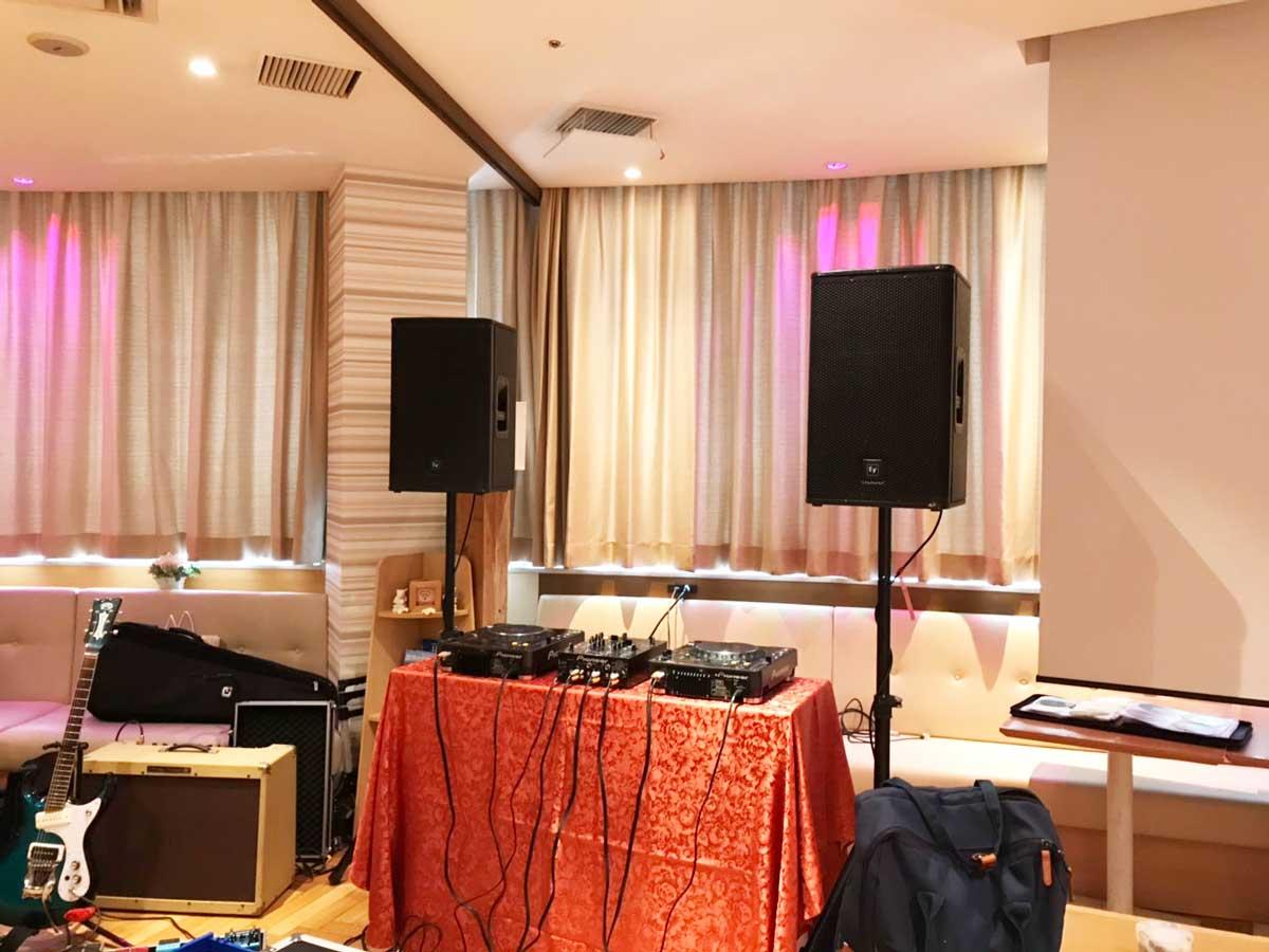 PA機材、DJ機材、アンプ等レンタル@ハマボール イアス 7F プルメリア カフェ